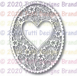 Tutti Designs - Cutting Die - Oval Heart Frame