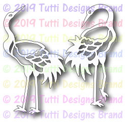 Tutti Designs - Cutting Die - Crane Pair
