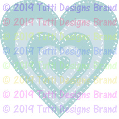 Tutti Designs - Cutting Die - Cross Stitch Hearts