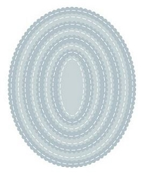 Tutti Designs - Cutting Die - Nesting Stitched Scallop Ovals