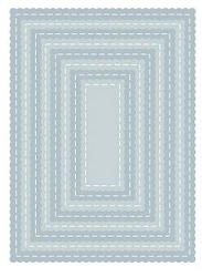 Tutti Designs - Cutting Die - Nesting Stitched Scallop Rectangles