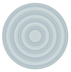 Tutti Designs - Cutting Die - Nesting Stitched Scallop Circles