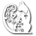 Tutti Designs - Cutting Die - Fancy Hearted Cat