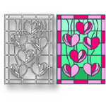 Tutti Designs - Cutting Die - Falling Hearts Stained Glass