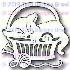Tutti Designs - Cutting Die - Cat In Basket