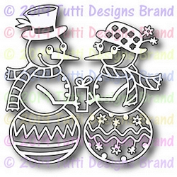 Tutti Designs - Cutting Die - Snowman Couple