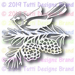 Tutti Designs - Cutting Die - Winter Cardinal