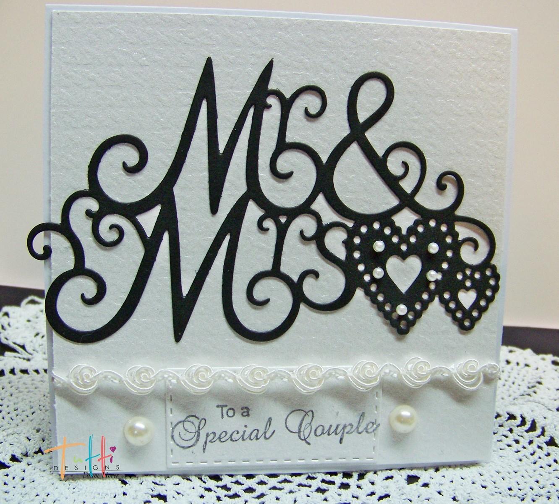 Tutti Designs Mr /& Mrs.Cutting Die TUTTI-301 Wedding