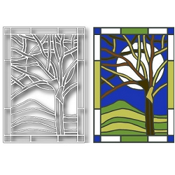 Tutti Designs - Winter Tree Stained Glass