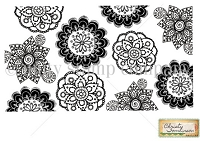 Unity Cling Rubber Stamp - by Christy Tomlinson - Doodled Doilies