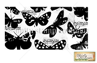 Unity Cling Rubber Stamp - by Christy Tomlinson - Butterfly Collage