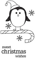 Unity Cling Rubber Stamp - Itty Bitty Sweet Christmas Wishes