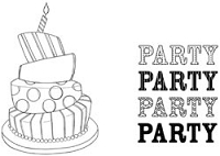 Unity Cling Rubber Stamp - Itty Bitty Party, Party, Party