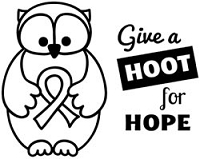 Unity Cling Rubber Stamp - Itty Bitty Hoot For Hope