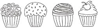 Unity Cling Rubber Stamp - 1,2,3,4,5 Thousand Cupcake Calories