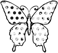 Unity Cling Rubber Stamp - Itty Bitty Butterfly Effect