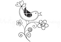 Unity Cling Rubber Stamp - Itty Bitty Chirp Chirp