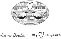 Unity Cling Rubber Stamp  - Itty Bitty Love Birds