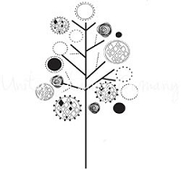 Unity Cling Rubber Stamp - Itty Bitty Baubled Branches