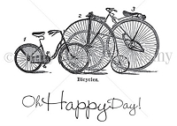 Unity Cling Rubber Stamp - Itty Bitty Collection - Happy Day