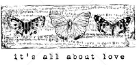 Unity Cling Rubber Stamp - Itty Bitty Collection - It's all about Love