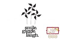 Unity Cling Rubber Stamp - Simple Stories Smile. Giggle. Laugh