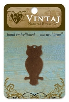 Vintaj-Natural Brass Altered Blanks-Perched Owl