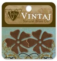 Vintaj-Natural Brass Altered Blanks-Hawaiian Flower