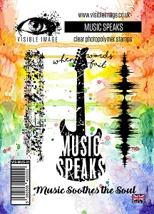 Visible Image - Clear Stamp - Music Speaks