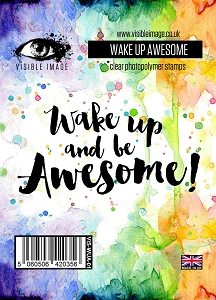 Visible Image - Clear Stamp - Wake Up Awesome