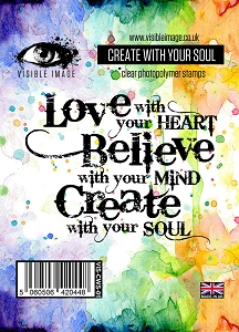 Visible Image - Clear Stamp - Create with Your Soul