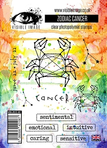 Visible Image - Clear Stamp - Zodiac Cancer