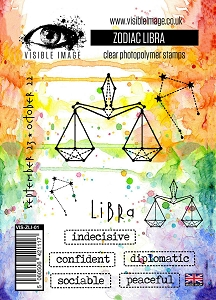 Visible Image - Clear Stamp - Zodiac Libra