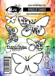 Visible Image - Clear Stamp -  Wings of Change