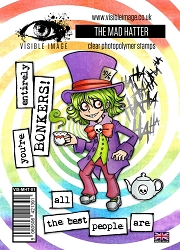Visible Image - Clear Stamp - The Mad Hatter