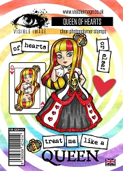 Visible Image - Clear Stamp - The Queen of Hearts
