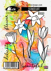 Visible Image - Clear Stamp - Flower Art
