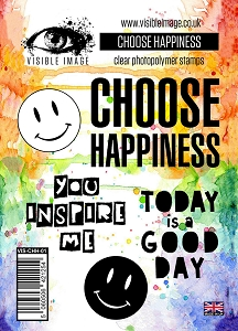 Visible Image - Clear Stamp - Choose Happiness