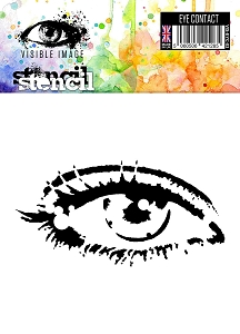 Visible Image - 6x6 Stencil - Eye Contact