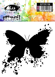 Visible Image - 6x6 Stencil - Butterfly Ink