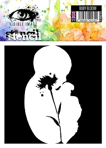 Visible Image - 6x6 Stencil - Baby Bloom
