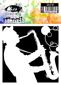 Visible Image - 6x6 Stencil - Sax It Up
