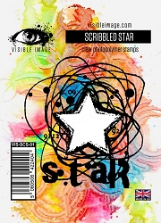 Visible Image - Clear Stamp - Scribbled Star