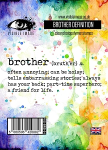 Visible Image - Clear Stamp - Brother Definition