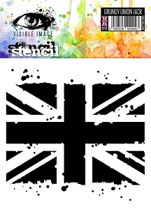 Visible Image - 6x6 Stencil - Grungy Union Jack