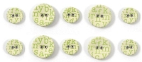 We-R-Memory Keepers - Baby Mine - Printed Fabric Buttons