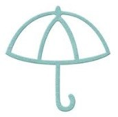 Lifestyle Crafts/We R Memory Keepers - Cutting dies - Umbrella
