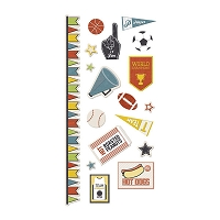 We-R-Memory Keepers - Game Day Collection - Embossed Stickers