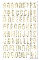 We-R-Memory Keepers - Happy Campers - Chipboard Alphabet Stickers