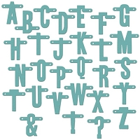 Lifestyle Crafts / We R Memory Keepers - Cutting Dies - Alphabet - Strung